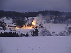Wohnhausbrand in Tanzelsdorf (1)